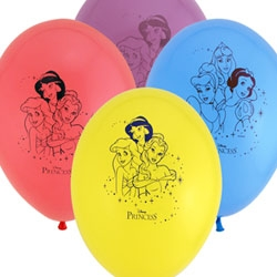 Disney Princess Balloons Assorted Designs Pack of 6